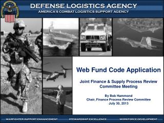 Web Fund Code Application Joint Finance & Supply Process Review Committee Meeting By Bob Hammond Chair, Finance Process