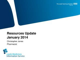 Resources Update January 2014
