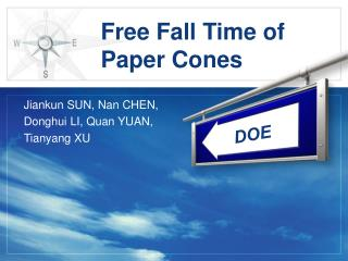 Free Fall Time of Paper Cones