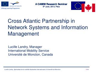 Cross Atlantic Partnership in Network Systems and  Information  Management