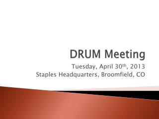 DRUM Meeting