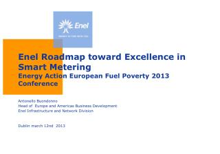 Enel  Roadmap toward Excellence  in Smart  Metering Energy  Action European Fuel Poverty  2013  Conference