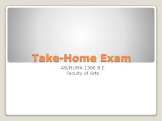 Take-Home Exam