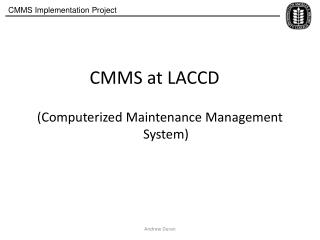 CMMS at LACCD