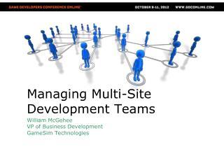 Managing  Multi-Site Development Teams