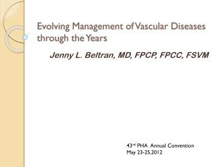 Evolving Management of Vascular Diseases through the Years