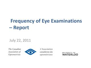 Frequency of Eye Examinations – Report