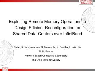Exploiting Remote Memory Operations to Design Efficient Reconfiguration for Shared Data-Centers over InfiniBand