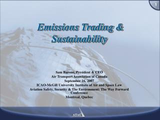 Emissions Trading & Sustainability