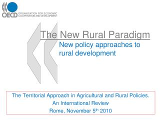 The New Rural Paradigm