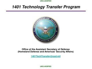 1401 Technology Transfer Program