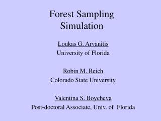 Forest Sampling Simulation