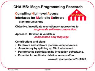 C ompiling  H igh-level  A ccess I nterfaces for  M ulti-site  S oftware       Stanford University