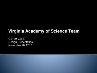 Virginia Academy of Science Team