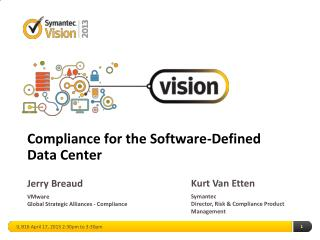 Compliance for the Software-Defined Data Center