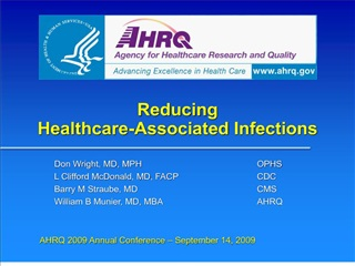 Reducing Healthcare-Associated Infections