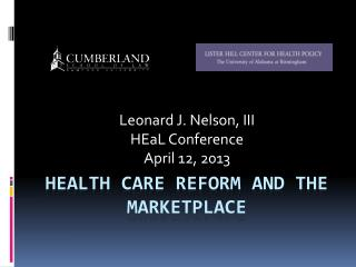 Health Care Reform and the Marketplace