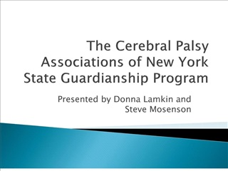The Cerebral Palsy Associations of New York State Guardianship Program