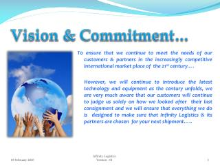 Vision & Commitment…