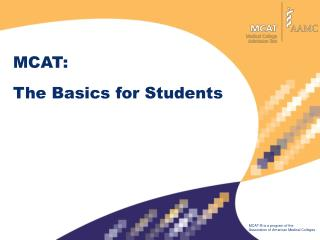 MCAT: The Basics for Students