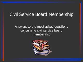 Civil Service Board Membership