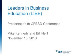 Leaders in Business Education (LIBE)