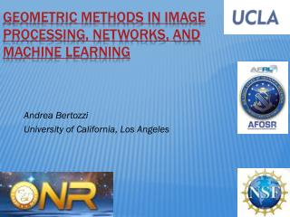Geometric methods in image processing, networks, and machine learning