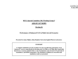 UAT-WP-6-11 31 July 2001