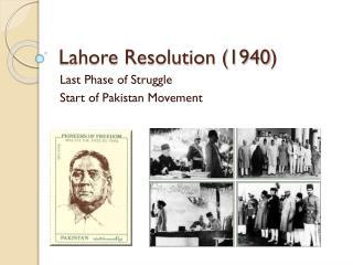 Lahore Resolution (1940 )