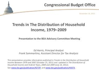Trends in The Distribution of Household Income, 1979–2009
