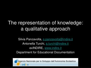 The representation of knowledge: a qualitative approach