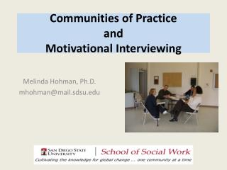 Communities of Practice and  Motivational Interviewing