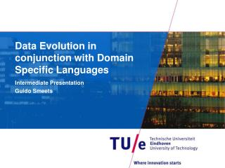 Data Evolution in conjunction with Domain Specific Languages