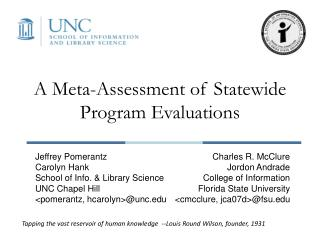 A Meta-Assessment of Statewide Program Evaluations