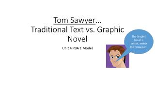 Tom Sawyer … Traditional Text vs. Graphic Novel