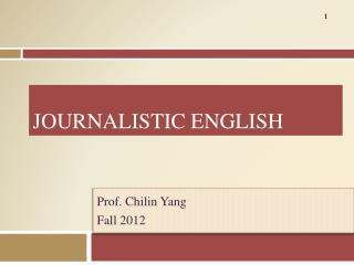 Journalistic English