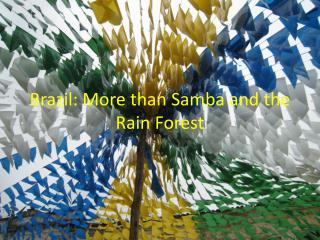 Brazil: More than Samba and the Rain Forest