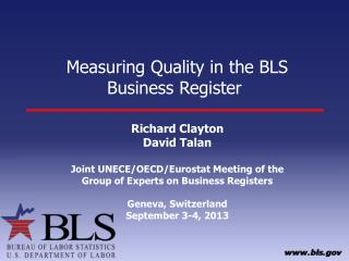 Measuring Quality in the BLS Business Register