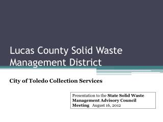 Lucas County Solid Waste Management District