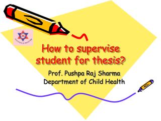 How to supervise student for thesis