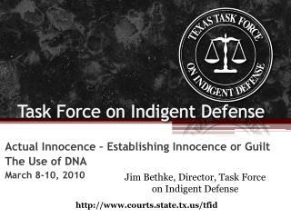 Task Force on Indigent Defense