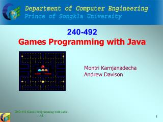 240-492 Games Programming with Java