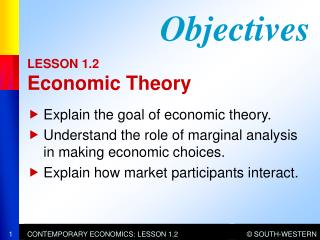 LESSON 1.2  Economic Theory