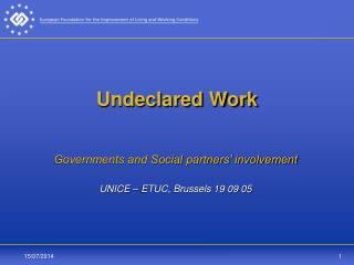 Undeclared Work