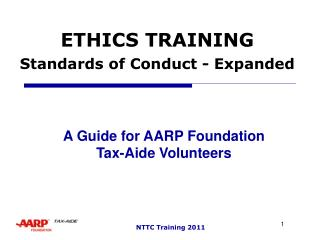ETHICS TRAINING Standards of Conduct - Expanded