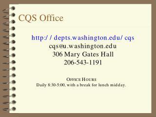 CQS Office