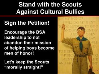 Stand with the Scouts Against Cultural Bullies