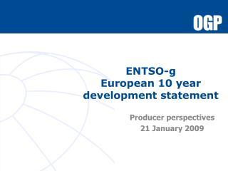 ENTSO-g European 10 year development statement