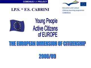 THE EUROPEAN DIMENSION OF CITIZENSHIP 2008/09