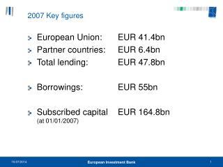 2007 Key figures